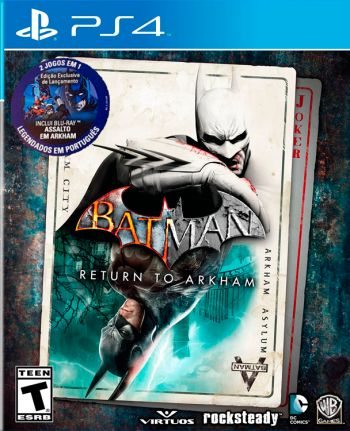 Batman Return to Arkham com vídeo Blu-Ray - PS4