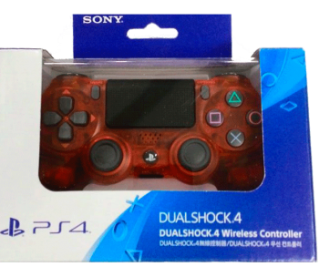Controle Dual Shock 4 Red Cristal
