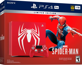 PlayStation 4 Pro 4K 1TB+Jogo Spiderman