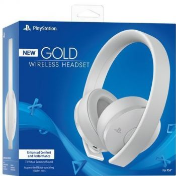Headset Sony Branco New Gold Wireless - PS4