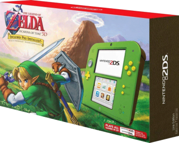 Nintendo 2DS com Zelda Ocarina of Time