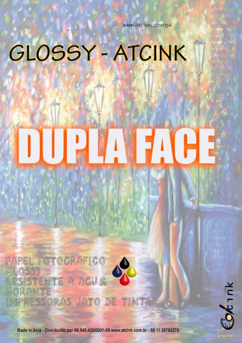 Papel fotografico [ Glossy ] 180 GR - DUPLA FACE