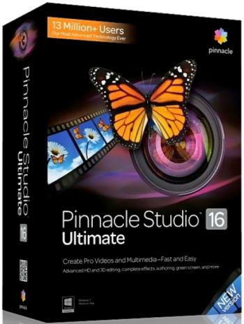 Pinnacle Studio 16 Ultimate ORIGINAL - Box FULL