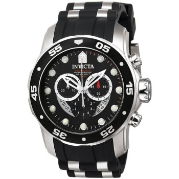 Relógio de Pulso Invicta Mens 6977 ''Pro Diver Collection'' Stainless Steel and Black Polyurethane Watch