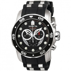 Relógio de Pulso Invicta Mens 6977 ''Pro Diver Collection'' Stainless Steel and Black Polyurethane Watch  - foto principal 1