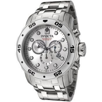 Relógio de Pulso Invicta Mens 0071 Pro Diver Collection Chronograph Stainless Steel Watch