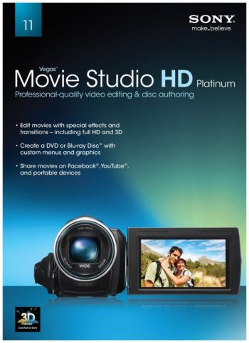 Sony Vegas Movie Studio Hd Platinum 11 - Produto Original