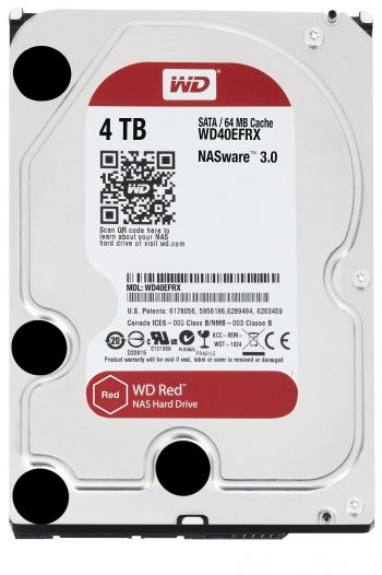 HD Western Digital Red 4 TB, SATA 3,  64MB Cache - WD40EFRX