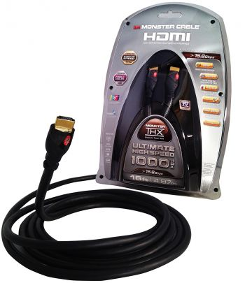 Cabo MONSTER 1000 HDX-16 High Speed HDMI- THX Certified (16 pés = 4,8m)