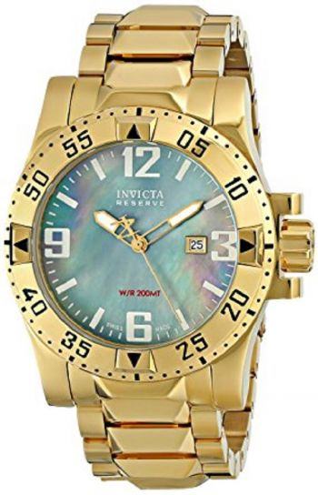 Relógio Invicta masculine Modelo 6243 Reserve Collection Excursion 18k Dourado