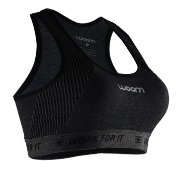TOP RUNNING WOOM X-FIT GRAFITE FEMININO
