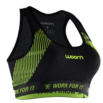 TOP RUNNING WOOM X-FIT VERDE FEMININO