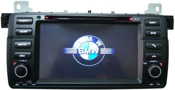 DVD + GPS + PIP + Tela de 7'' HD TFT + Touchscreen + Bluetooth + TV BMW Serie 3 E46 - 1998 a 2006