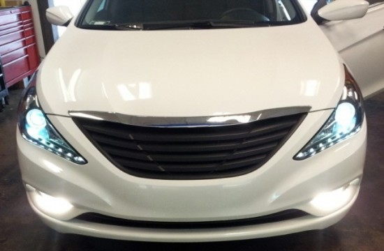 Farol LED DRL Dayline Angel Eyes Hyundai Sonata - 2011+