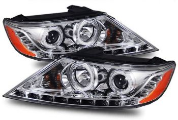 Farol Projetor Duplo Angel Eyes LED Kia Sorento - 2011 a 2013