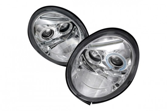 Farois Chromo LED Angel Eyes Projetor VW Beetle 2.0 - 2007+