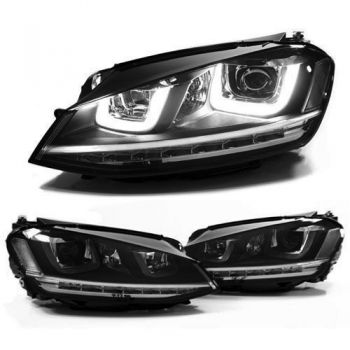 Farois Black LED DRL Projetor V1 VW Golf MK7 GTI 2.0T - 2013+