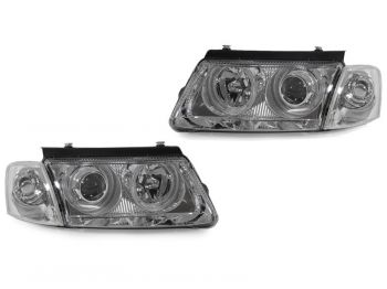 Farois Lente Lisa Projetor Chromo Angel Eyes VW Passat B5 - 1998 a 2000
