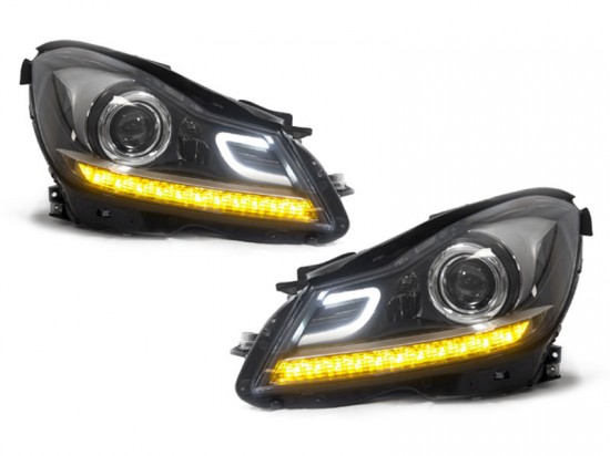 Farois Projetores LED DRL Mercedes-Benz Sedan W204 C180 - 2012+