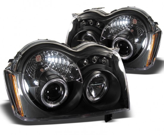 Farois Projetores Angel Eyes LED Jeep Grand Cherokee - 2005 a 2007