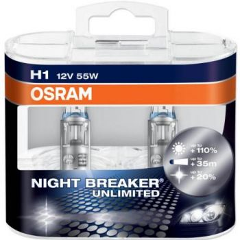 Lâmpadas OSRAM Night Breaker Unlimited H1 - 55W