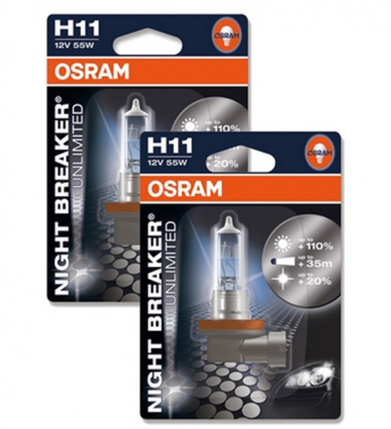 Lâmpadas OSRAM Night Breaker Unlimited H11 - 55W