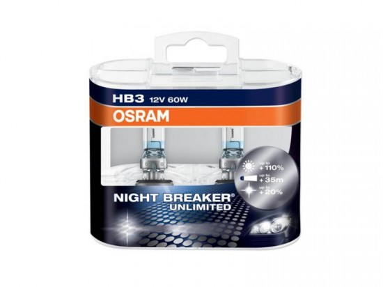 Lâmpadas OSRAM Night Breaker Unlimited HB3 - 60W