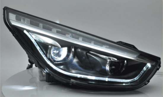 Farol LED DRL Projetor Angel Eyes Hyundai iX35 - 2011+