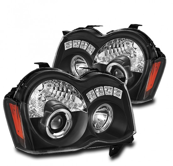 Farois Projetores Angel Eyes LED Jeep Grand Cherokee - 2008 a 2010