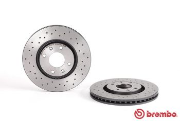 Discos BREMBO XTRA Citroen DS3 1.6 Turbo - 2010+