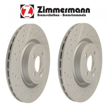 Discos de Freio Zimmermann Drilled Slotted BMW F30 335i - 2013+