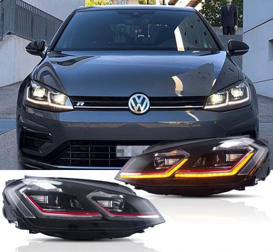 Farois Black LED DRL Projetor V3 VW Golf MK7 GTI 2.0T - 2013+