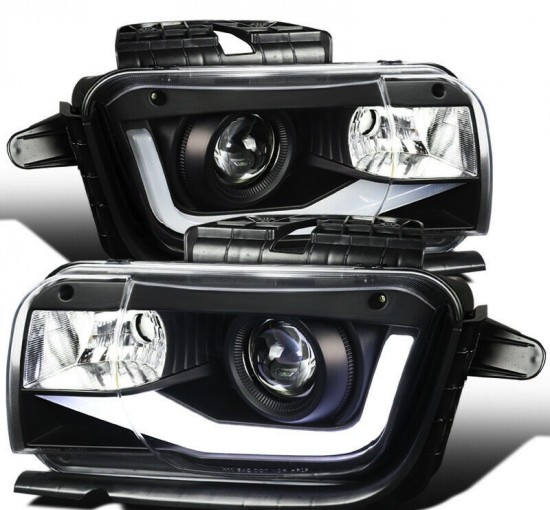 Farol LED DRL Black Chevrolet Camaro - 2010 a 2013