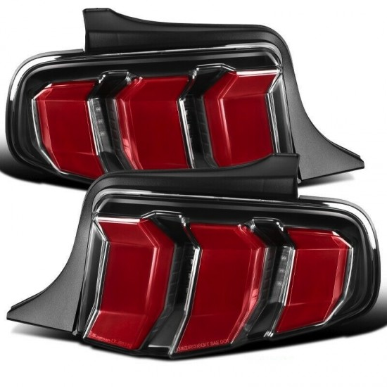 Lanterna Traseira BLACK RED LED Ford Mustang - 2010 a 2012