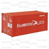 Container Walthers 20 Pés Ribbed-Side Hamburg-Sud - WAL-8006
