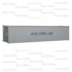 Container Walthers 40 Pés Smooth-Side United States Lines - WAL-8303  - foto principal 1