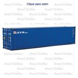 Container Walthers 40 Pés Hi-Cube Corrugated NYK LInes - WAL-8265