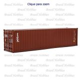 Container Walthers 40 Pés Hi-Cube Corrugated Tex - WAL-8266