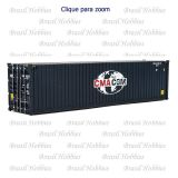 Container Walthers 40 Pés Hi-Cube Corrugated CMA-CGM - WAL-8260