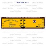 Vagão Accurail 40 Pés Wood Reefer Northern Pcific #91072 - Kit para Montar - ACU-8098 A