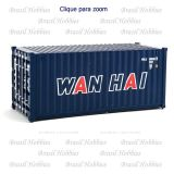 Container Walthers 20 Pés Corrugated Wan Hai - WAL-8066