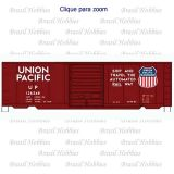 Vagão Accurail 40 Pés' PS-1 Box Car UP #126348 - Kit para Montar - ACU-8115-3  - foto 1
