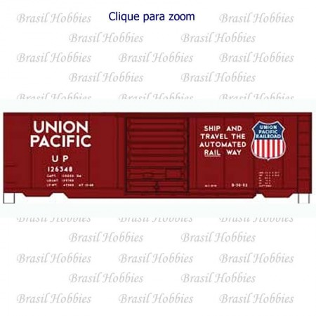 Vagão Accurail 40 Pés' PS-1 Box Car UP #126348 - Kit para Montar - ACU-8115-3  - foto principal 1