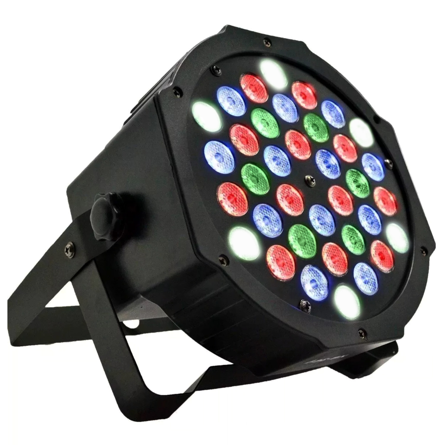 Refletor Led par 64 RGB 36 Leds 1w DMX Digital Strobo Slim