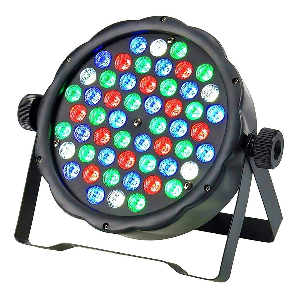 Refletor Led Par 64 RGBW 54 Leds DMX Digital Strobo Slim