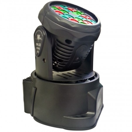 Mini Moving Head Wash RGB 18x1W DMX Sensor Rítmico  - foto principal 1