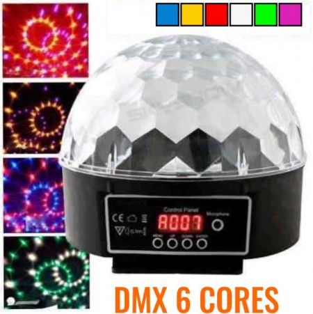Bola Maluca LED Magic Ball DMX 6 Cores Painel Digital 30 Watts  - foto principal 1