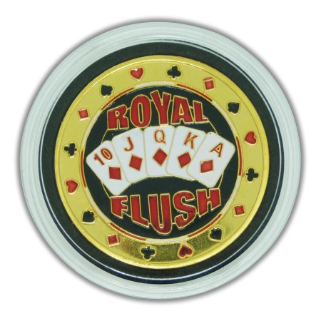 Protetor de Cartas Poker Protect Card Customizada Royal Flush  - foto principal 1