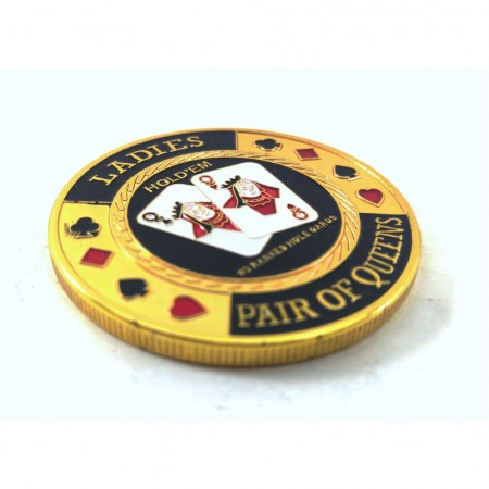 Protetor de Cartas Poker Protect Card Customizada Ladies Pair  - foto principal 1
