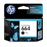 Cartucho Original HP 664 preto F6V29